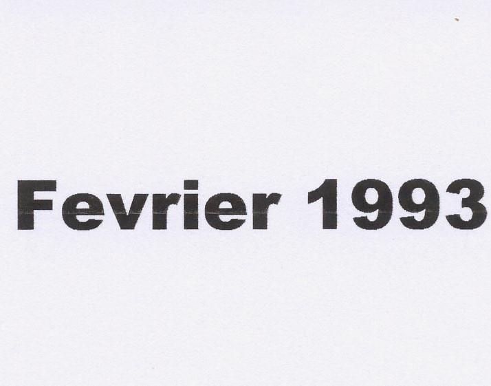 Première balade en février 1993