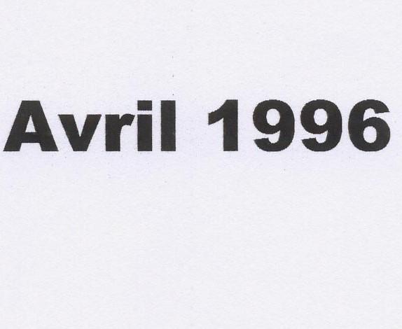 Balade avril 1996
