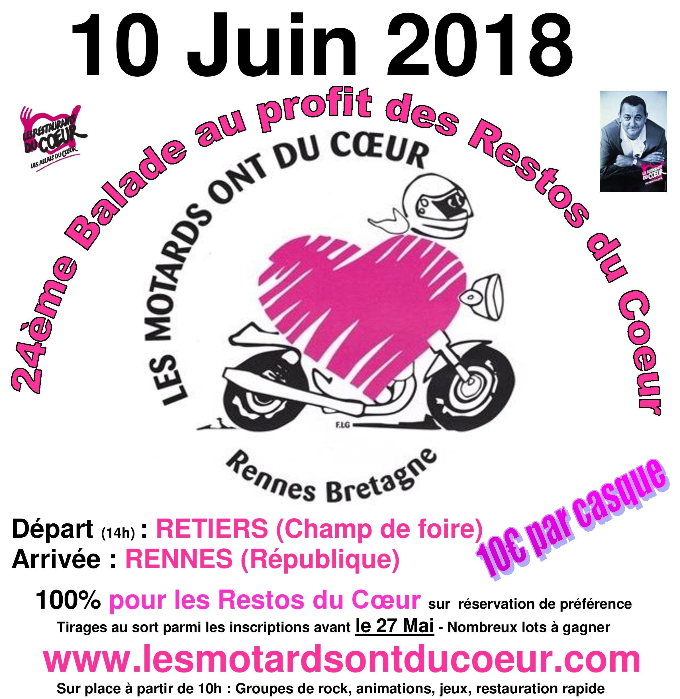 Balade Du 10 Juin 2018 Des Motards Ont Du Cœur