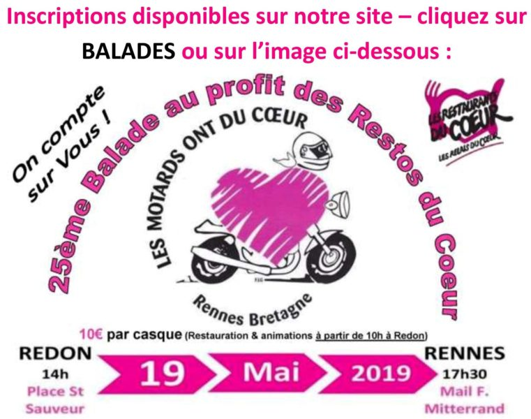 Inscription Balade Du 19 Mai