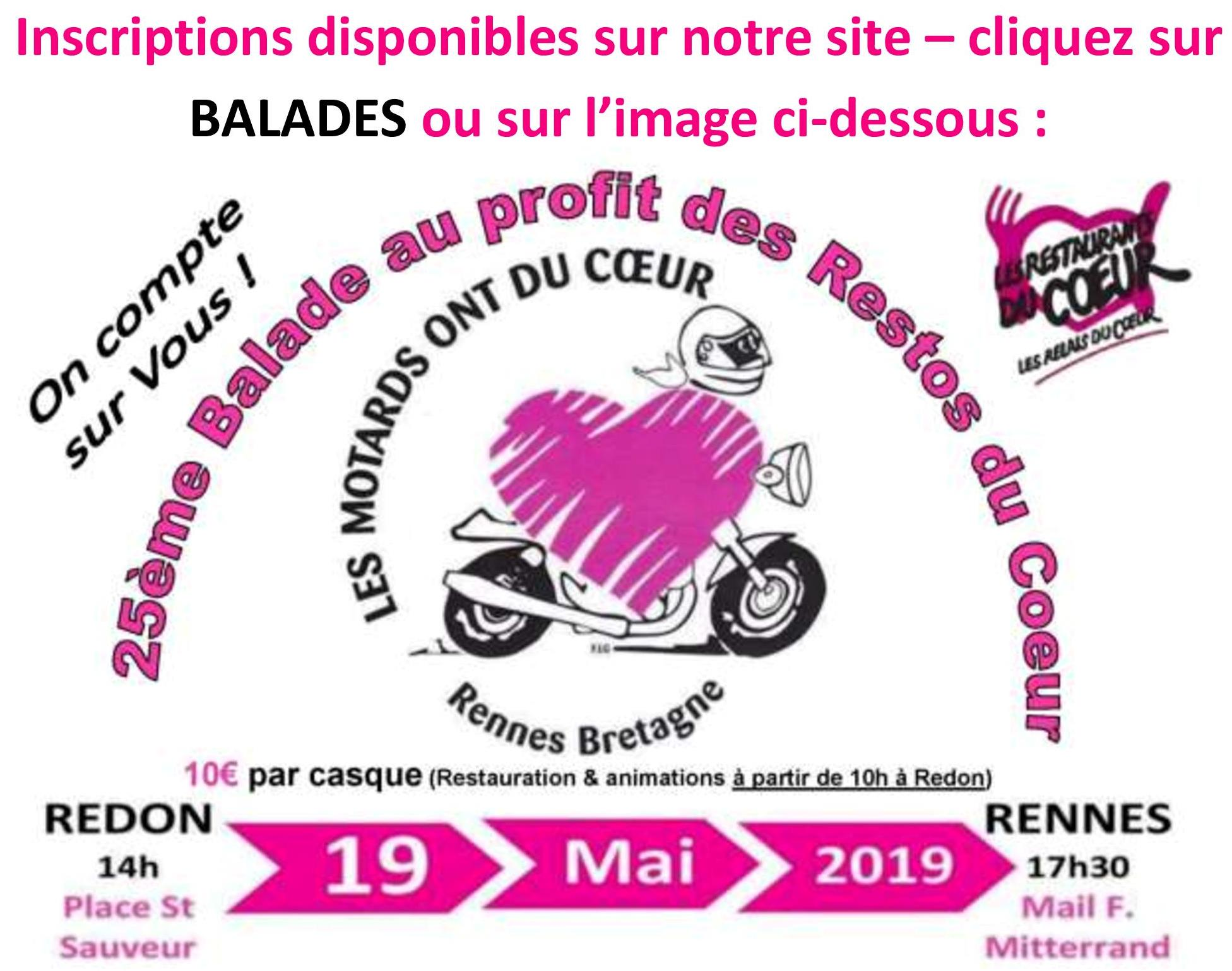 Inscription Balade 19 Mai