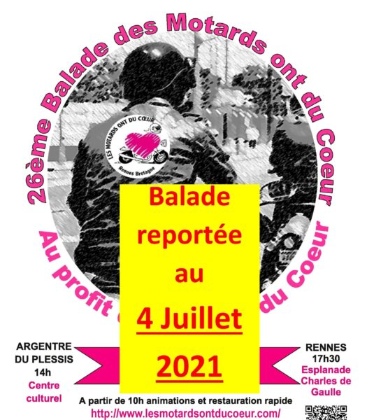 REPORT DE LA BALADE DU 6 JUIN AU 4 JUILLET 2021
